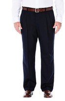 Haggar Big & Tall Cool 18 Pants - Classic Fit, Pleated Front, Hidden Expandable Waistband