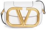Valentino Garavani Small Supervee Leather Saddle Bag