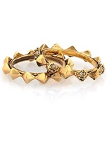 House of Harlow 1960 Spike Stack Ring Set in Gold