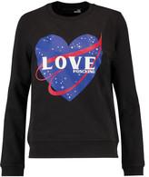 Love Moschino Printed cotton-jersey sweatshirt
