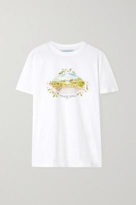 Casablanca Vista Printed Cotton-jersey T-shirt - White