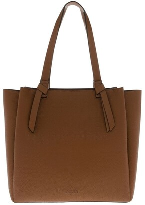 Piper Christina Double-Handle Tan Tote Bag