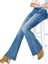 GUESS Charlotte Flare Denim in Blue Noon Wash