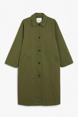 Monki Utility raglan coat