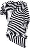 Junya Watanabe draped striped T-shirt