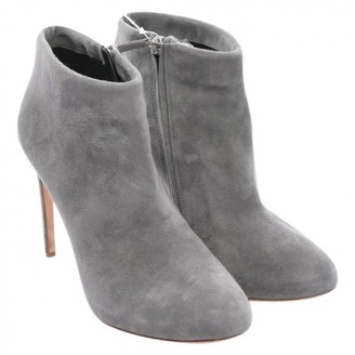 Rupert Sanderson Grey Leather Ankle boots