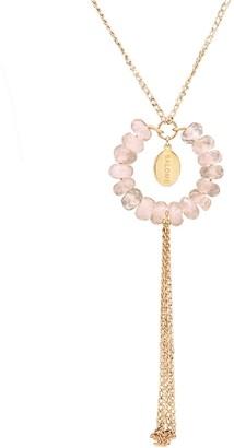 Salome Bridal Collection Tribal Rose Quartz Necklace