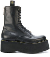 R 13 chunky sole lace-up boots