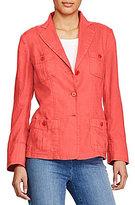 Lauren Ralph Lauren Linen 3-Button Blazer
