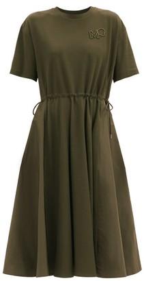 Moncler Drawstring-waist Cotton T-shirt Dress - Khaki