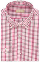 Michael Kors Men's Classic/Regular Fit Non-Iron Pink Check Dress Shirt