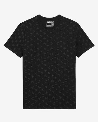 Express Black All-Over Logo Moisture-Wicking Graphic T-Shirt
