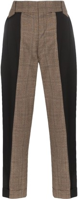 Split Personality two-tone trousers