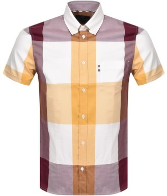 Aquascutum London Henlake Check Short Sleeve Shirt Yellow