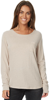 Rusty Womens Bare Ls Tee Natural