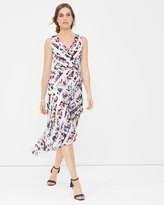 White House Black Market Floral Stripe Wrap Sundress
