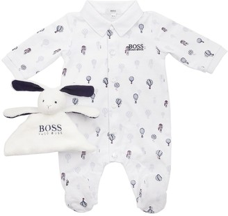 HUGO BOSS Printed Cotton Jersey Romper & Toy