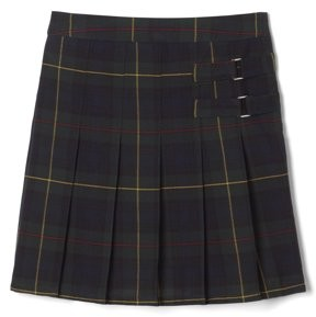 French Toast Girls School Uniform Adjustable Waist Plaid 2-Tab Scooter Skirt, Sizes 4-20 & Plus