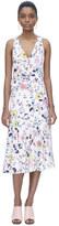 Rebecca Taylor Sleeveless Tapestry Garden Ruffle Dress
