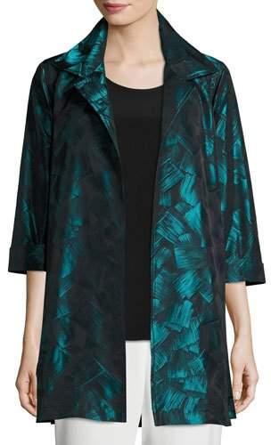 Caroline Rose Brushstroke Jacquard Party Jacket, Petite