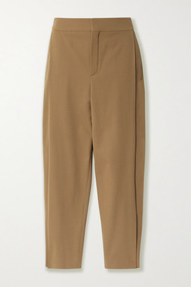 Chloé Cropped Stretch-twill Tapered Pants - Beige
