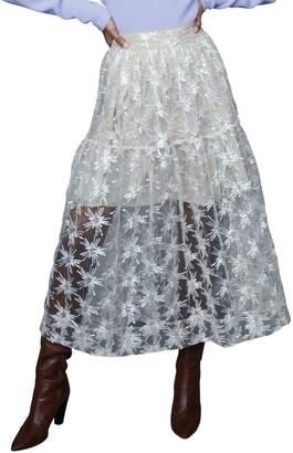 Maje Jizio Sequin Tulle Skirt