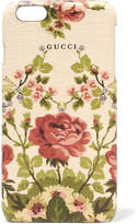 Gucci for NET-A-PORTER - Adonis Floral-print Textured Iphone 6 Plus Case - Antique rose