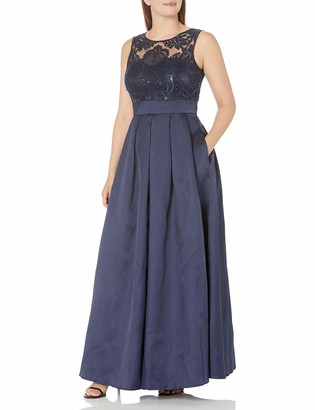 Eliza J Women's Gown with Sequin Lace Bodice