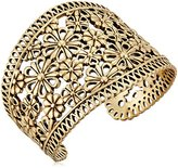 Lucky Brand Gold Lace Openwork Cuff Bracelet
