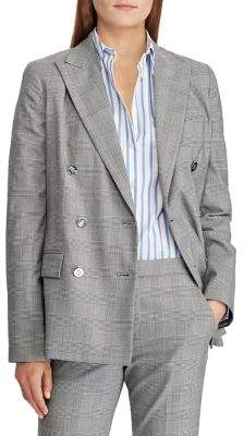 Lauren Ralph Lauren Double-Breasted Twill Blazer