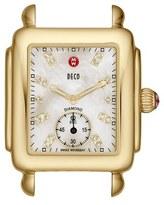 Michele 'Deco 16' Diamond Dial Gold Watch Case, 29mm x 31mm