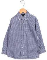 Oscar de la Renta Boys' Plaid Button-Up Shirt w/ Tags