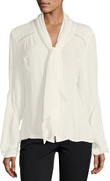 Go Silk Bow Silk Blouse