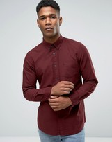 Jack Wills Oxford Shirt In Regular Fit In Damson