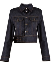 Stella McCartney Angelica point-collar cropped denim jacket
