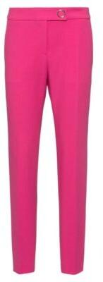 HUGO BOSS - Slim Fit Cigarette Pants With Hardware Trim - Pink