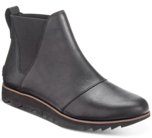 Sorel Women's Harlow Chelsea Lug Sole Waterproof Booties Women's Shoes