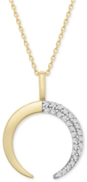 "Wrapped Diamond Crescent Moon 20"" Pendant Necklace (1/10 ct. t.w.) in 14k Gold, Created for Macy's"