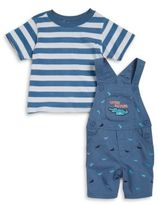Nannette Baby Boys Later Gator Overalls and Tee Set