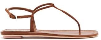 Prada Ankle Strap Suede Sandals - Womens - Brown