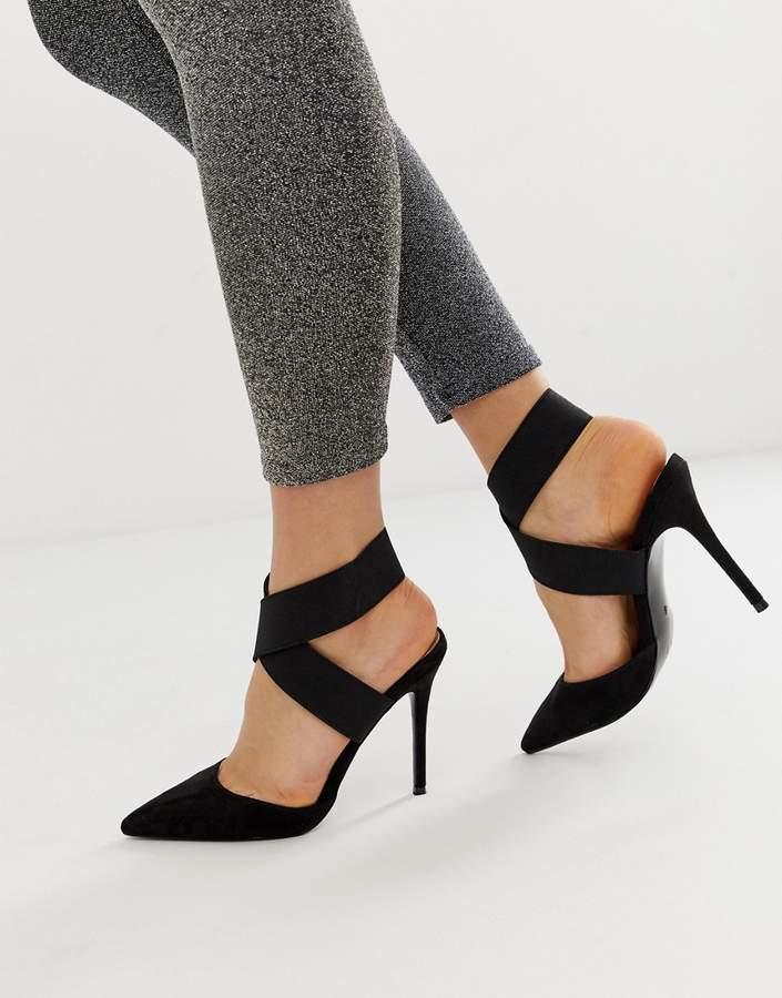 986149fec56 Design DESIGN Payback elastic high heels in black
