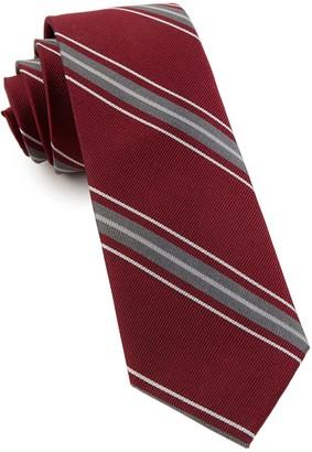 Tie Bar Detour Stripe Burgundy Tie