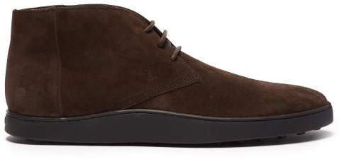 Tod's Suede Desert Boots - Mens - Brown