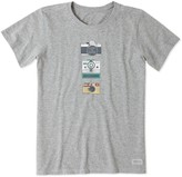 Life is Good Womens Hobby Cameras Crusher Tee