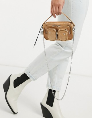 Nunoo Helena leather cross-body bag in beige croc