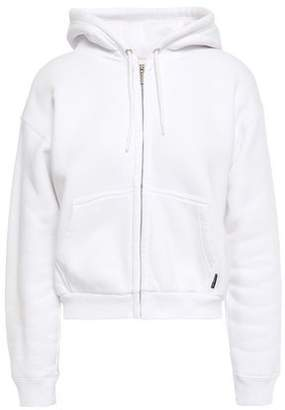 Balenciaga Cropped Embroidered Cotton-fleece Hoodie
