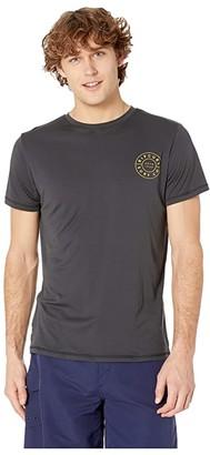 Rip Curl Compass Short Sleeve UV Tee (Dark Grey) Men's Swimwear
