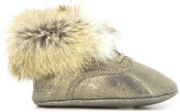Pom D'Api Iridescent Leather Rabbit Fur Shoes