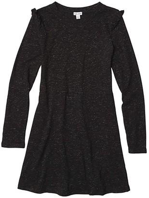 Splendid Littles Sparkle Dress (Big Kids) (Black) Girl's Clothing