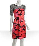 See By Chloe pink floral sateen lace top dress